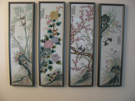 Framed Asian Tiles